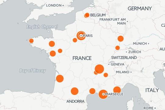 La Carte De France Avec Toute Les Villes