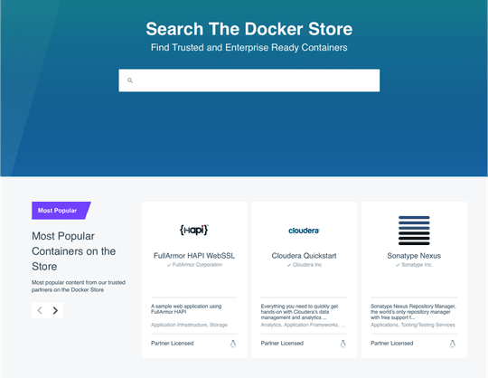 Docker Store : la nouvelle boutique d'applicationsmade in Docker