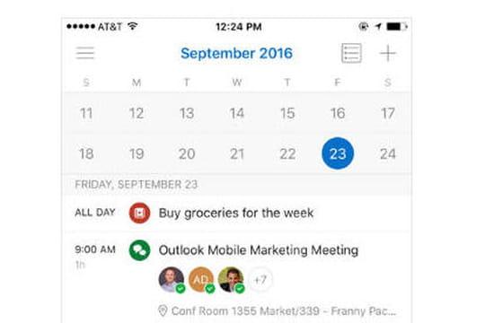L'app Outlook hérite des fonctionnalités issues du rachat de Sunrise