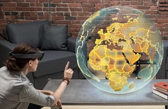 Réalité augmentée: le casque Hololens de Microsoft arrive en France