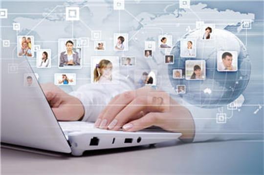 Réseau social d'entreprise (CAC 40)