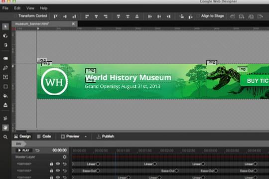 Google Web Designer : un outil gratuit de création d'animations HTML5