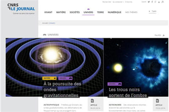 Exemple de responsive design : CNRS Le Journal