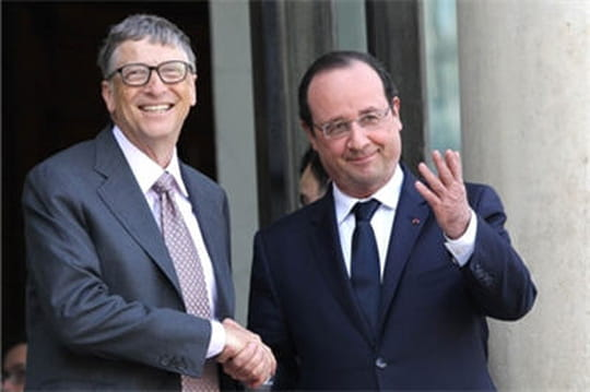 Bill Gates fait son lobbying à l'Elysée