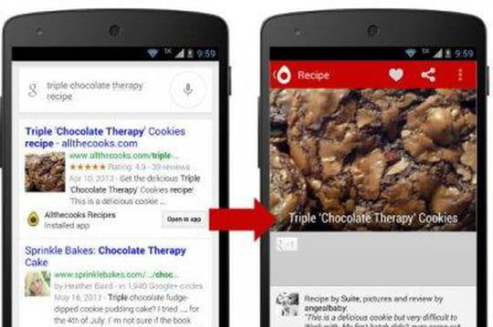 Le contenu d'apps mobiles françaises indexé par Google