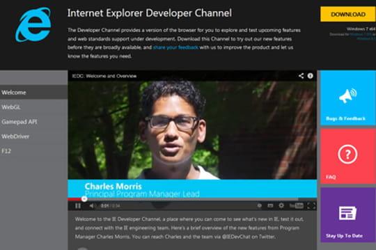 Internet Explorer : le canal développeur est lancé