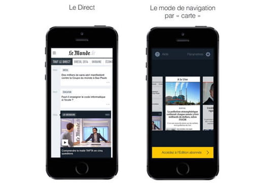 Application Le Monde
