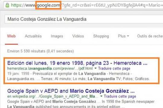 Google retrouver résultats 0614