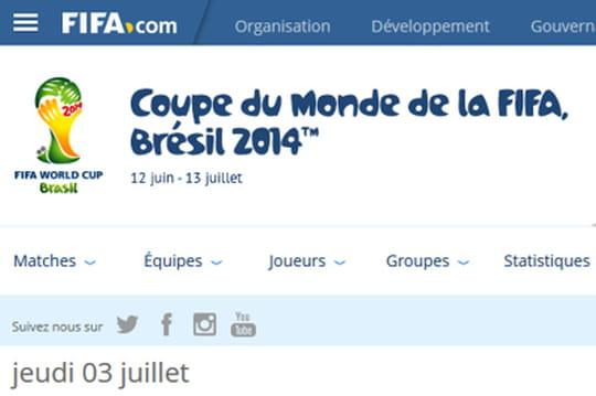 Site web de la Coupe du monde 2014