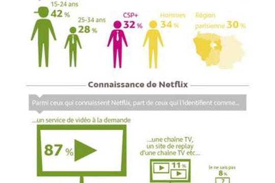 Notoriété de Netflix en France