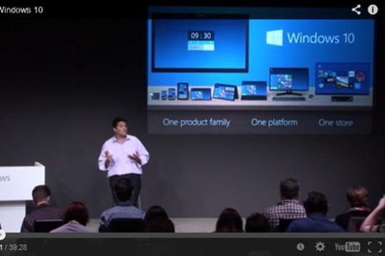Windows 10 : revivez la conférence de lancement en vidéo