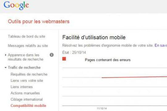 Google Webmaster Tools : nouveaux indicateurs sur le SEO mobile