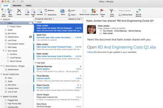Mac : un nouvel Outlook, et une nouvelle version d'Office en 2015