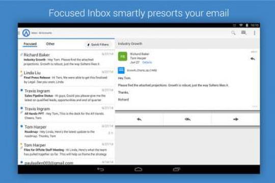 App mobile : Microsoft s'est offert le spécialiste de l'email Acompli