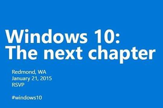 Windows 10 : Microsoft donne rendez-vous le 21 janvier