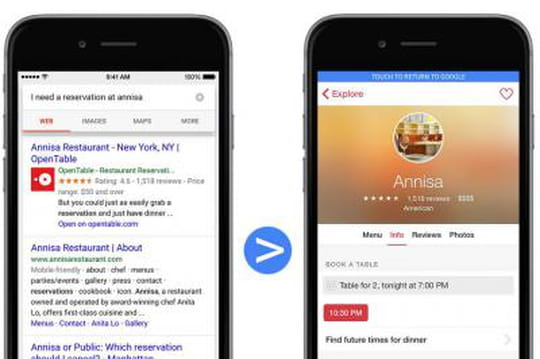 Google se lance dans l'indexation des apps iOS