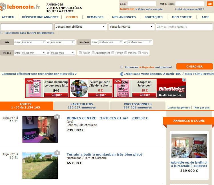 1er immo le top 5 des sites d 39 immobilier en france jdn - Leboncoin moselle immobilier ...