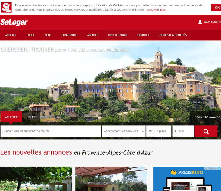 2 me seloger le top 5 des sites d 39 immobilier en france for Site immobilier france