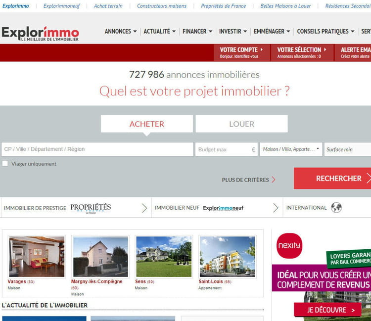 5 me explorimmo le top 5 des sites d 39 immobilier en for Site immobilier france