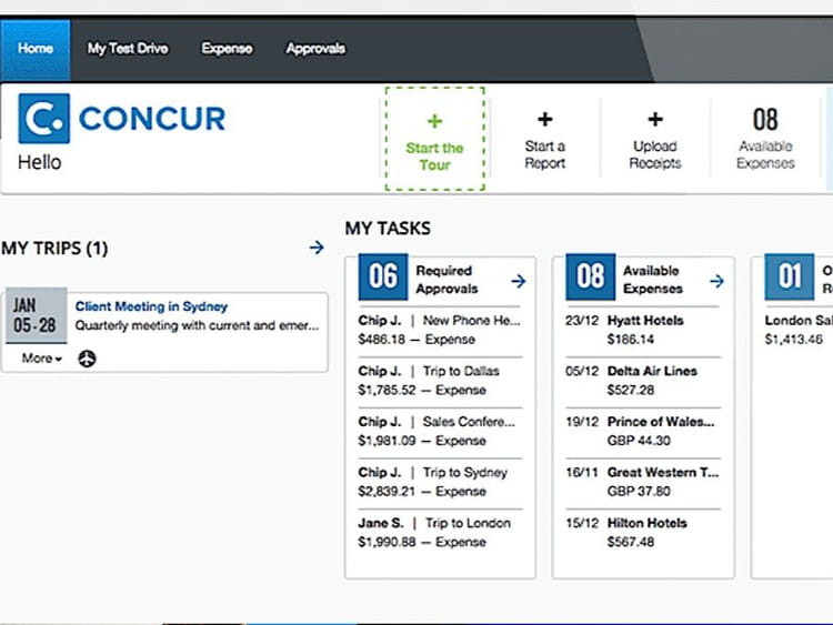 5e - Concur de SAP