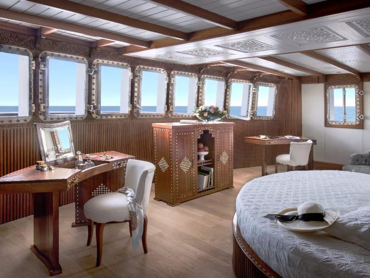 Une vue imprenable sur la mer depuis la cabine principale