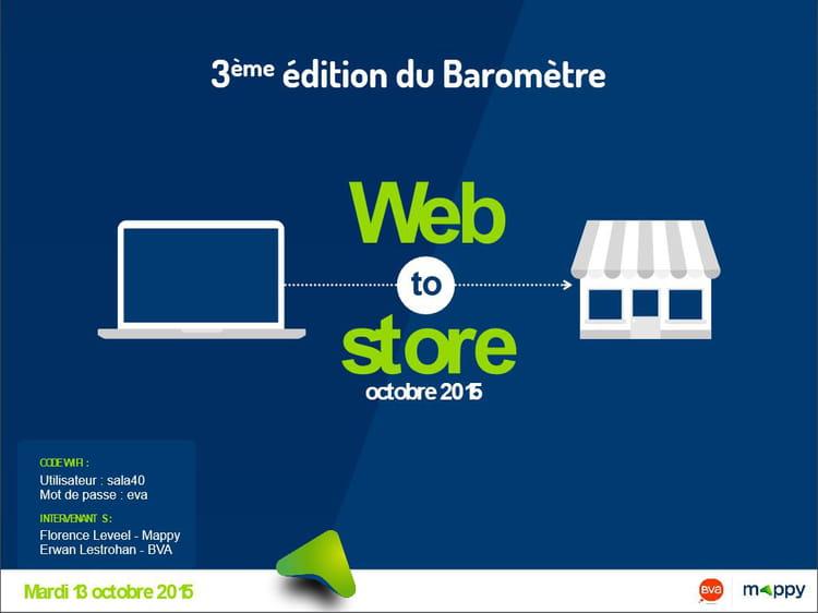3ème édition du Baromètre Mappy/BVA du web-to-store