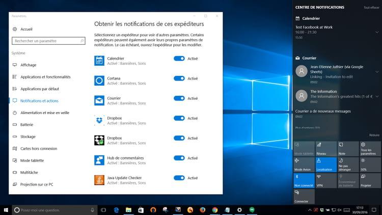 Cortana synchronise les notifications sur tous les terminaux de l'utilisateur