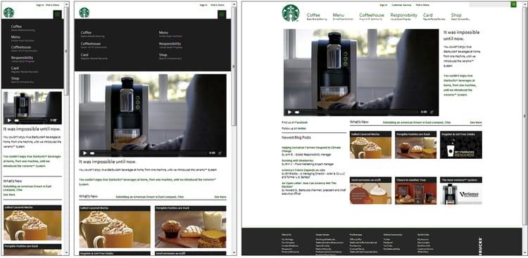starbucks com   10 exemples de responsive design