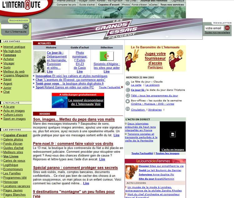 Linternaute en 2003