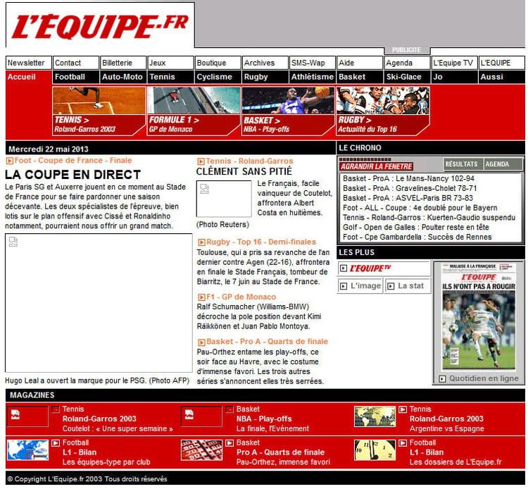 L'Equipe en 2003