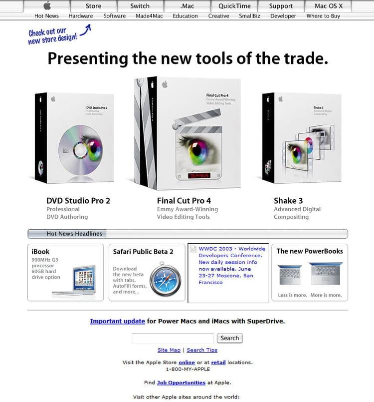 Apple en 2003