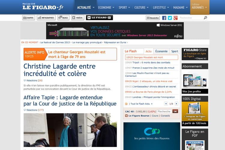 Le Figaro en 2013