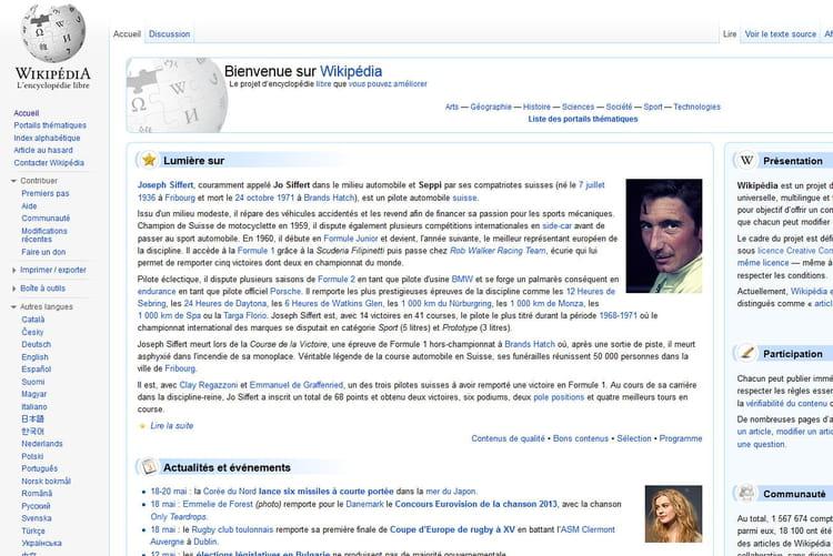 Wikipedia en 2013