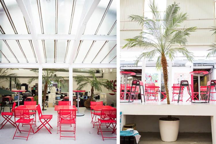 une oasis dans les bureaux dans les locaux de l 39 agence