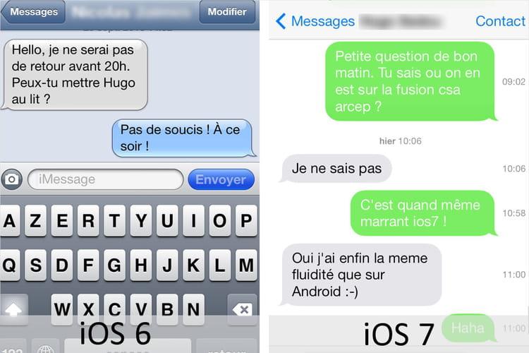 les sms   ios 6 vs ios 7   ce qui change entre les deux