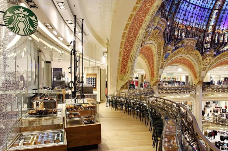 aux galeries lafayette  u00e0 paris   les plus beaux caf u00e9s starbucks du monde