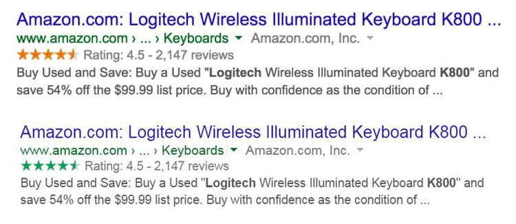 Google changer la couleur des étoiles d'avis résultats recherches SERPs
