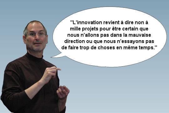 Steve Jobs, à propos d'innovation