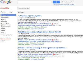 vous pouvez créer des requêtes sur google qui vous remonteront immédiatement ce