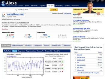 vous pouvez comparer le trafic de plusieurs sites internet grâce aux services