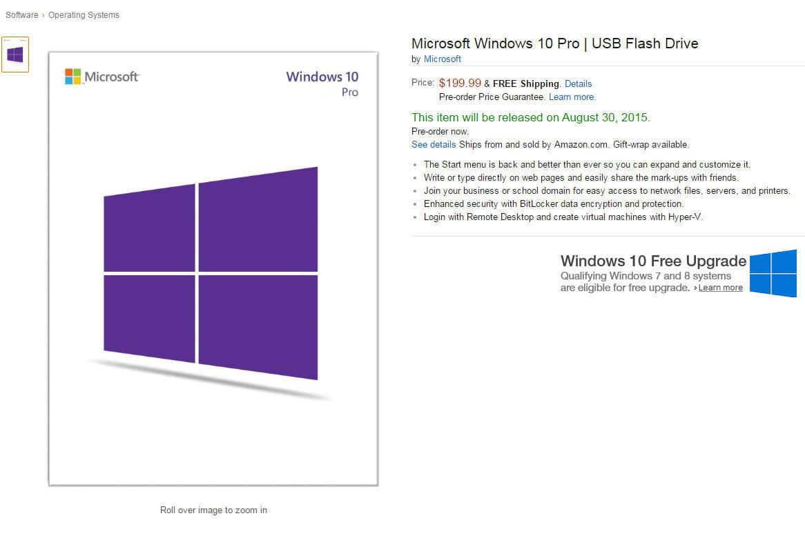 windows 10 sera aussi vendu sur cl usb jdn. Black Bedroom Furniture Sets. Home Design Ideas