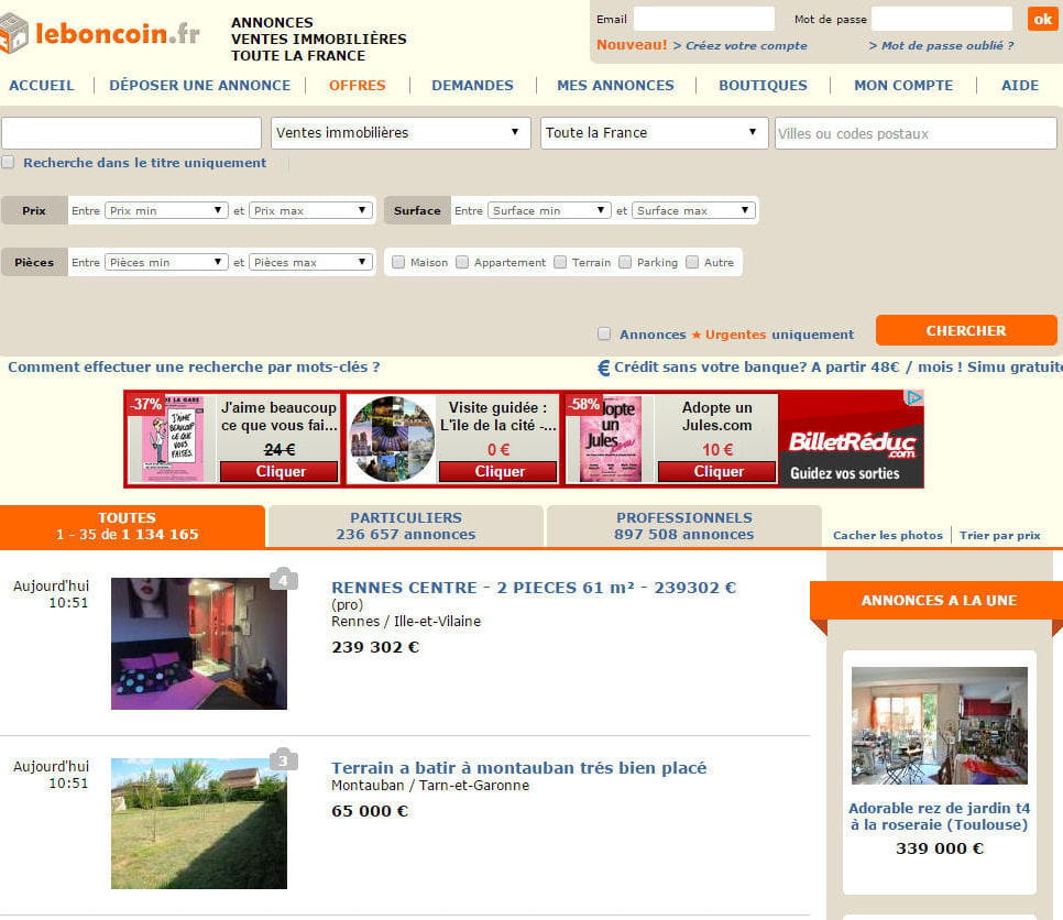 1er immo le top 5 des sites d 39 immobilier for Site immobilier france