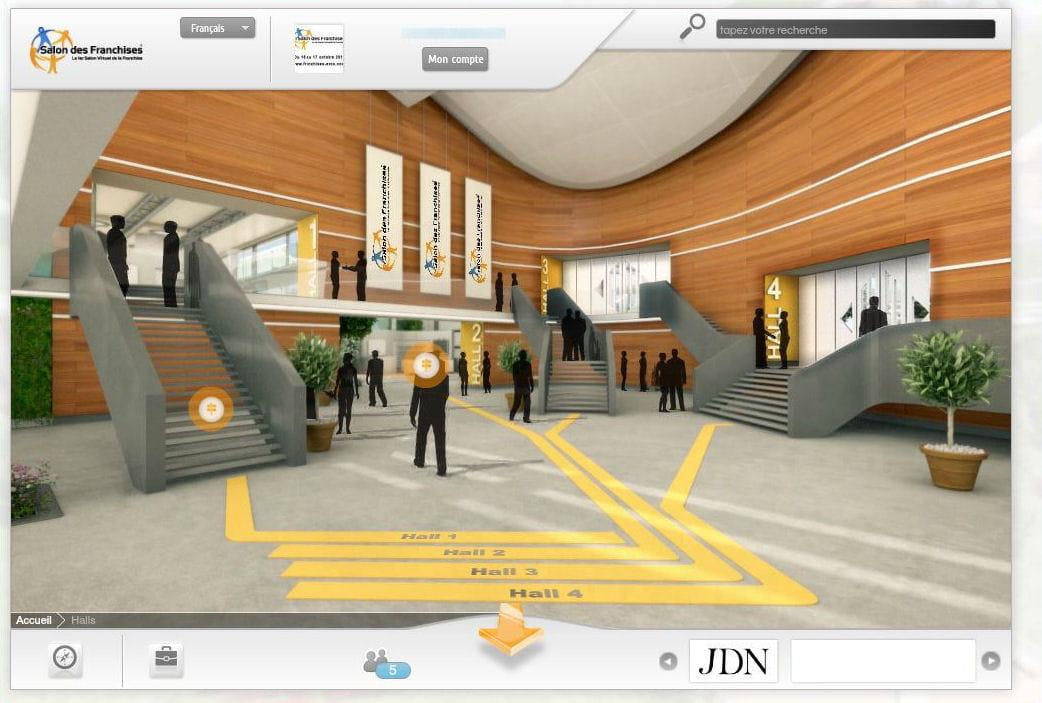 Acc s aux halls salon virtuel des franchises visite for Salon virtuel de la franchise