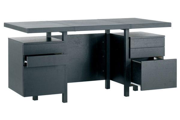 un bureau en cuir et bois am nager un bureau la mad. Black Bedroom Furniture Sets. Home Design Ideas