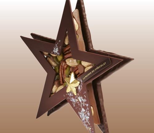 une toile de no l en chocolat 20 cadeaux de no l chics et originaux jdn. Black Bedroom Furniture Sets. Home Design Ideas