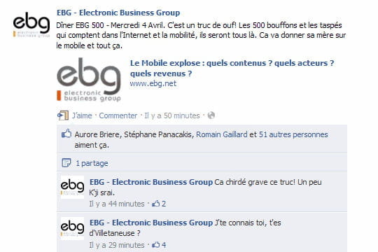 EBG page Facebook