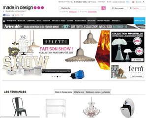 le site de madeindesign.com propose mobilier, luminaires, accessoires, déco,