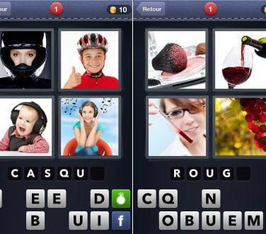 jeux sur mobile rendent accro 4 Images 1 mot : devinette et jeux de