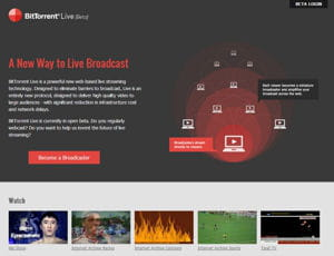 grâce à un système de streaming en peer-to-peer, bittorrent live casse les coûts
