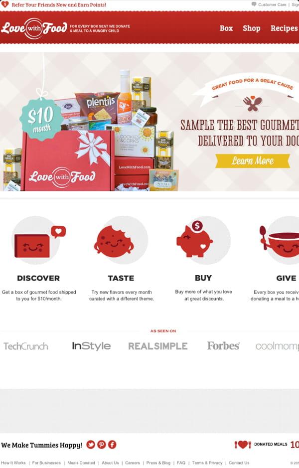 love with food est une box mensuelle de produits gourmets 14 start up qui vont changer votre. Black Bedroom Furniture Sets. Home Design Ideas